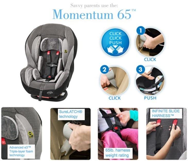 Evenflo Momentum 65 DLX recall