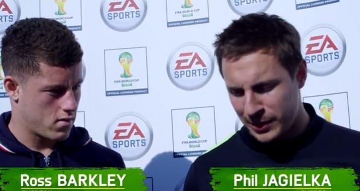 Barkley vs Jagielka at Everton FC FIFA WC tournament