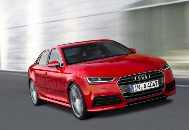 Evolutionary Audi A4 design at Frankfurt 2015
