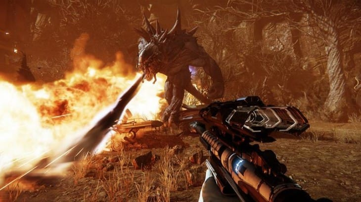 Evolve gameplay footage teases monster and hunter characters