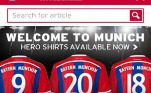 FC Bayern Munich enhances US news app
