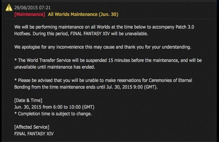 FFXIV-maintenance-today