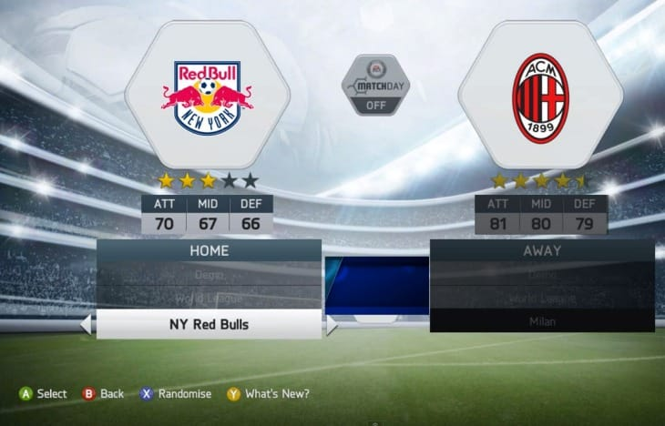 FIFA 14 demo teams