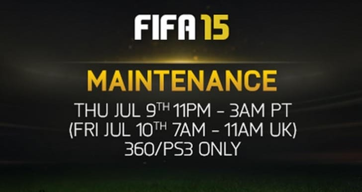 FIFA 15 down for 4-hour PS3, Xbox maintenance