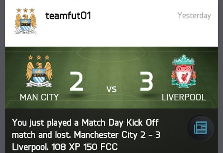 FIFA 15 Companion app problems