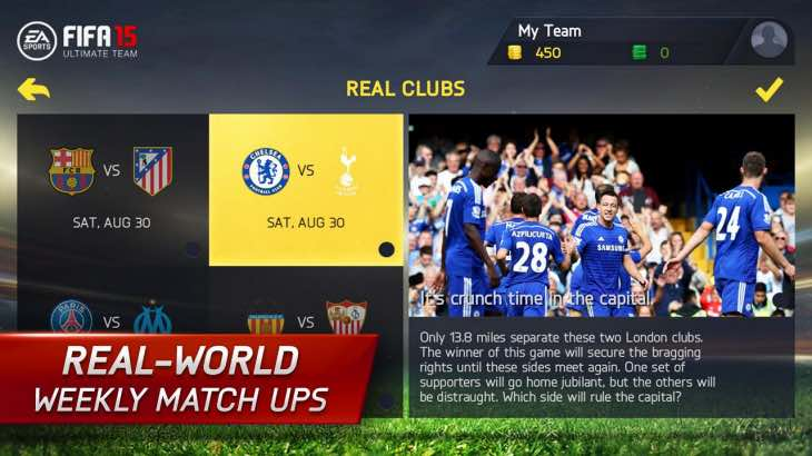 FIFA 15 UT Android and iOS update