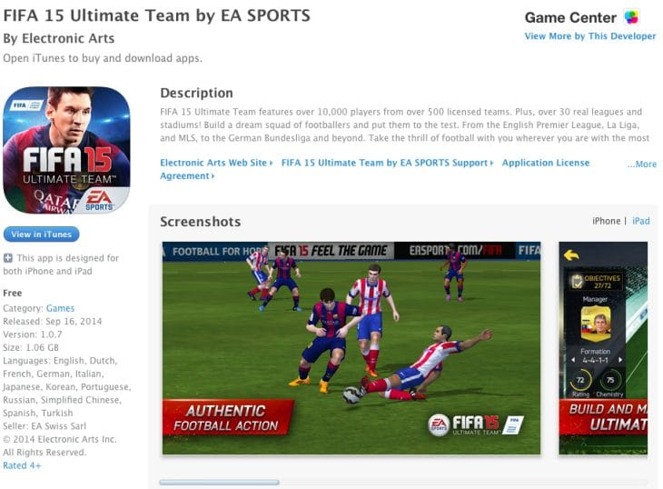 FIFA 15 Ultimate Team web app live