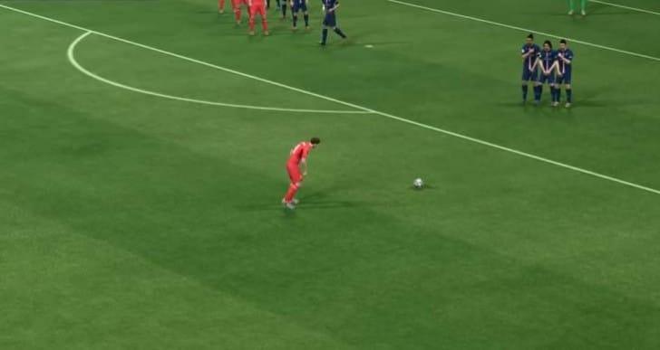 FIFA 15 ability to score goals on free kicks