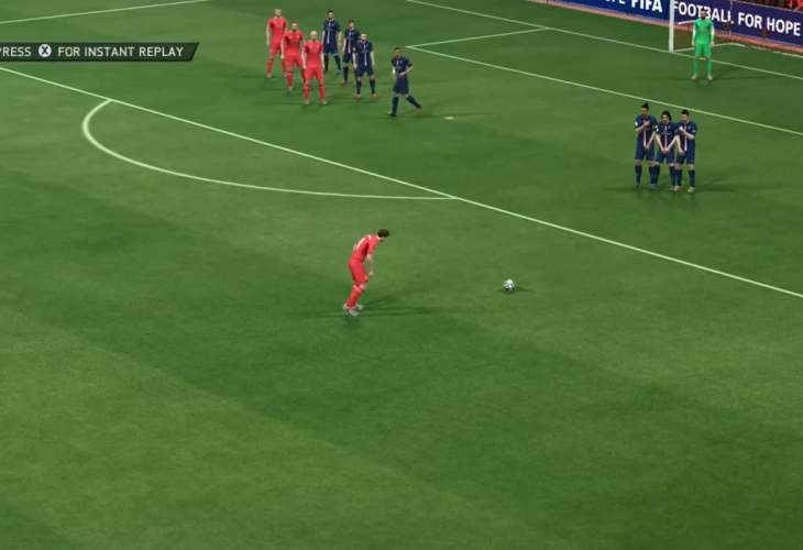 FIFA 15 ability to score goals on free kicks
