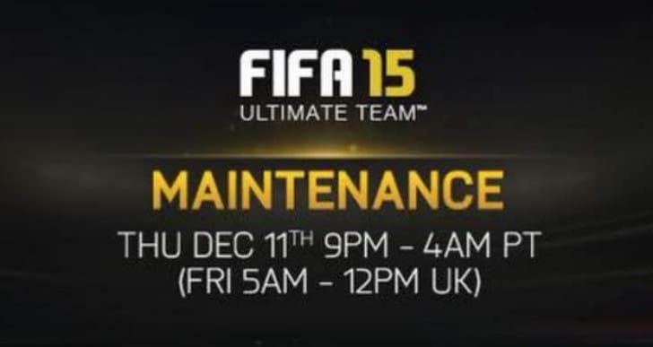 FIFA 15 Ultimate Team, Web and Companion App down today