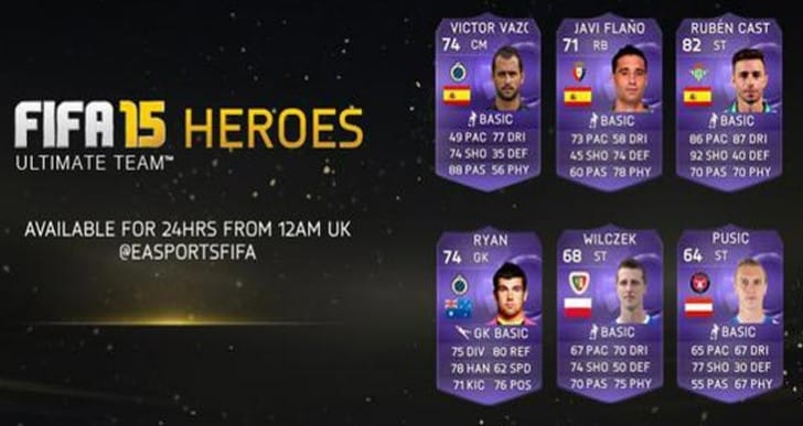 FIFA 15 new Heroes with June 9 update