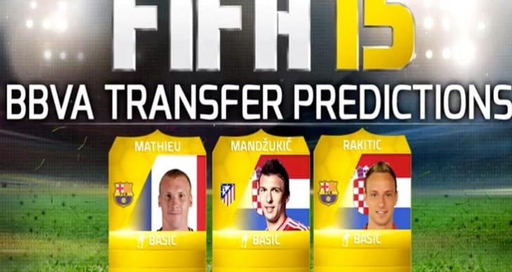 FIFA 15 predictions for Mathieu, Rakitic from FC Barcelona