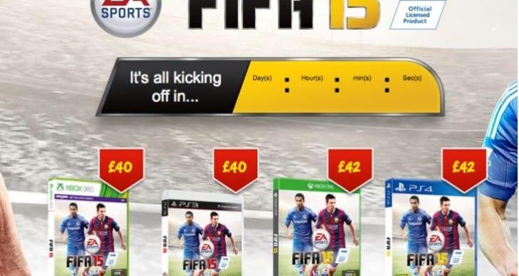 FIFA 15 price at Asda, Tesco and Sainsbury's