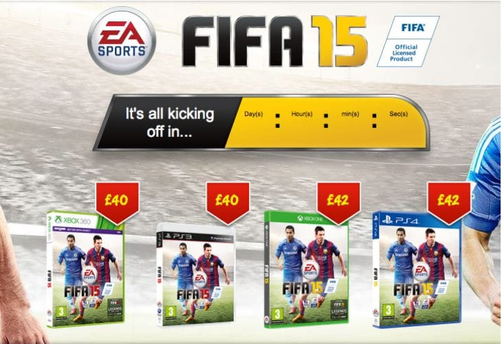 FIFA 15 price at Asda, Tesco and Sainsbury's