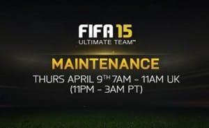 FIFA 15, web app down for April 9 maintenance