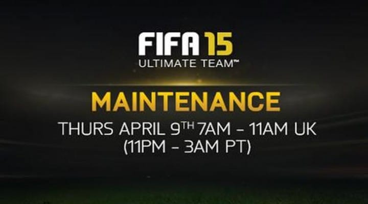 FIFA 15, web app down for April 9 maintenance