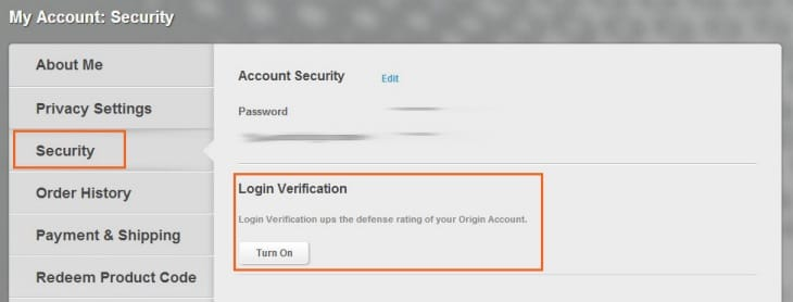 FIFA 15 web app log in verification