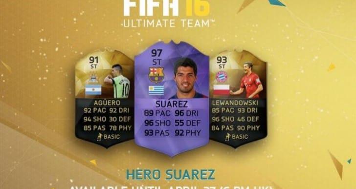 Hero Suarez gameplay review in FIFA 16 FUT Draft