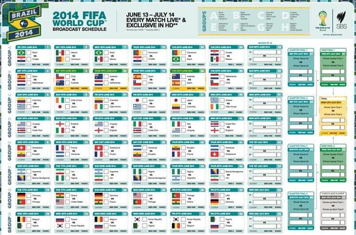 World Cup Schedule Pdf