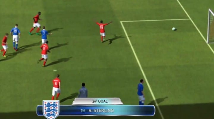 England Vs Italy prediction with LFC's R Sterling scoring in FIFA 14