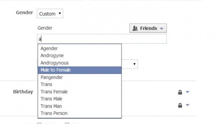 Facebook Gender options for advertising not expression