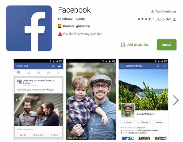 Facebook September Android app update