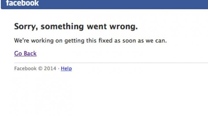 Facebook down today with social buttons