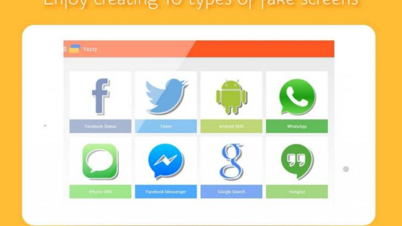 Fake WhatsApp, Facebook Messenger conversation app – Product