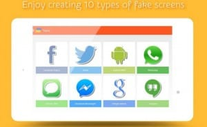 Fake WhatsApp, Facebook Messenger conversation app