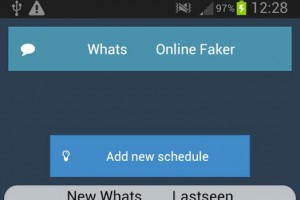 Fake WhatsApp last seen time on Android