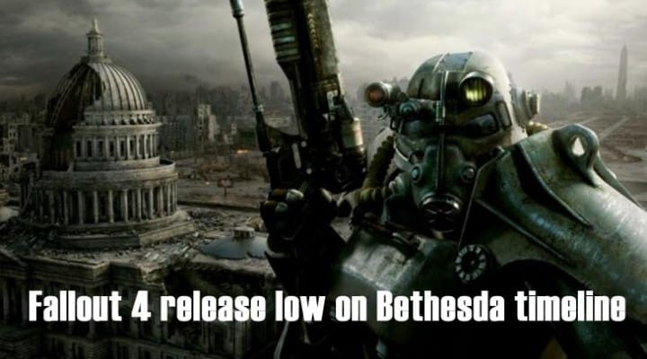 Fallout 4 release low on timeline