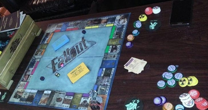 Fallout: New Vegas-inspired Monopoly board
