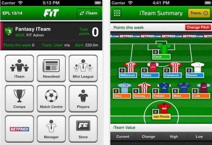 Fantasy Football World Cup 2014 app