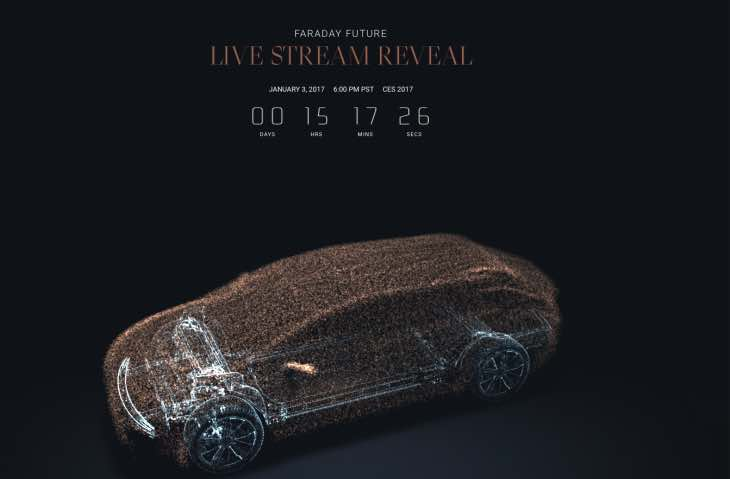 Faraday Future Countdown To Ces 2017 Live Stream Reveal Product Reviews Net
