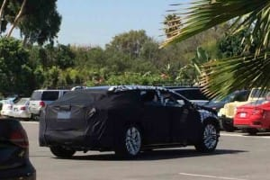 Faraday Future production car spotted with cannibalized design