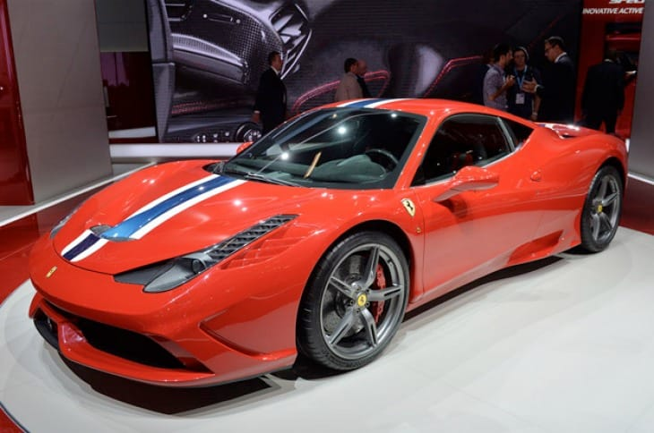 Ferrari 458 Speciale on show at Frankfurt Motor Show