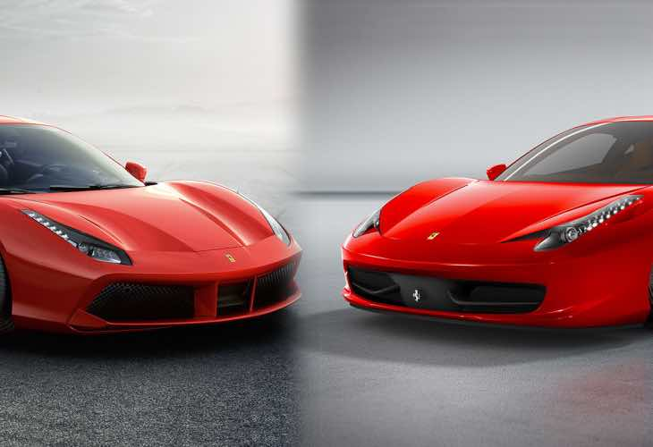 U Batteries Ferrari 488 GTB vs. 45...