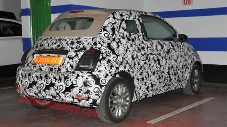 Fiat 500 facelift exterior