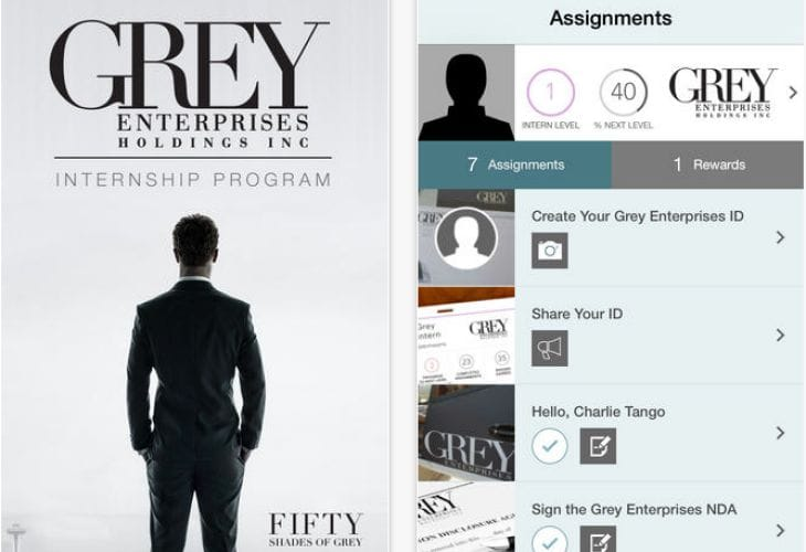 50 shades of grey dating app