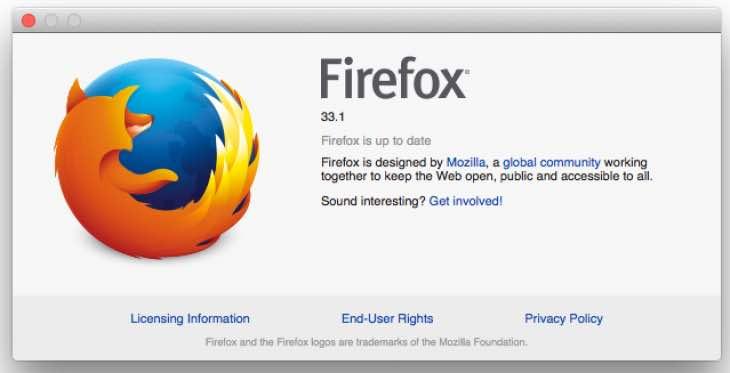 Firefox 33.1 update