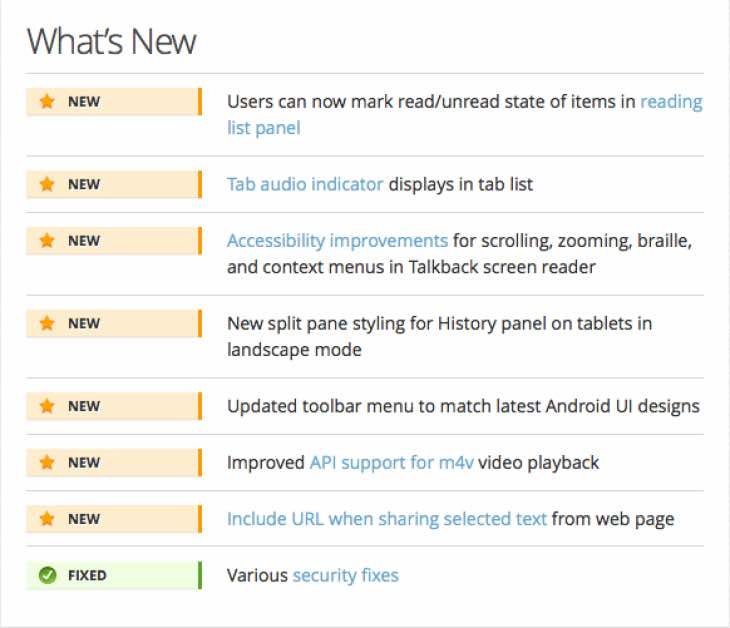 Firefox 43 update for Android