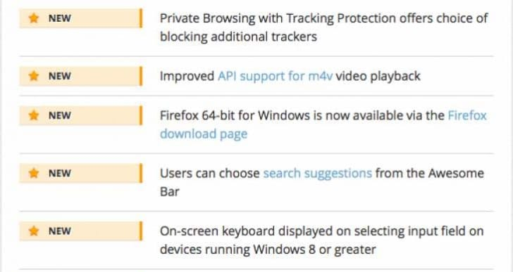 Firefox 43 update release notes reveal what's new