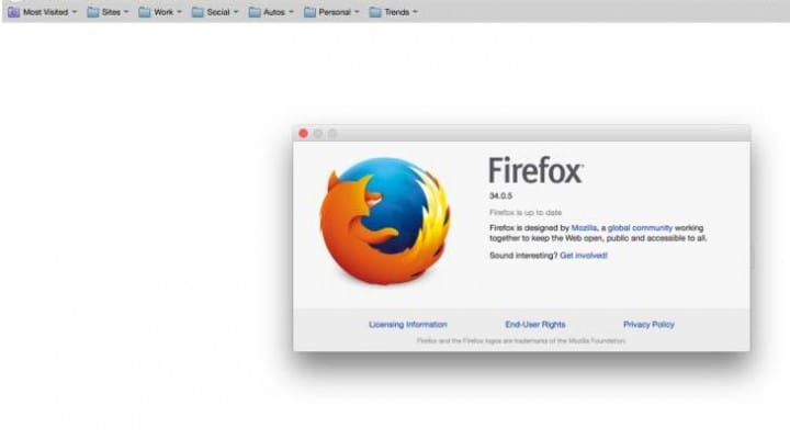 Firefox update 34.0.5 release notes live