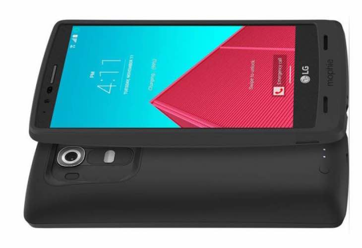 First LG G4 battery case, the Mophie Juice