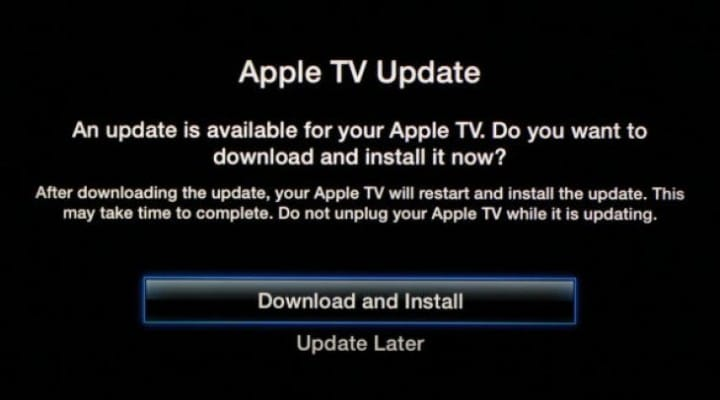 First Apple TV update for 2014 released