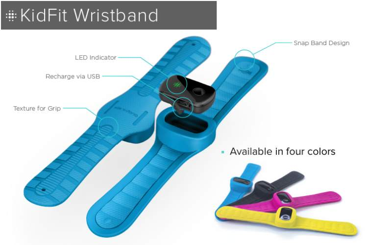 Fitness tracker for kids with retro KidFit Wristband