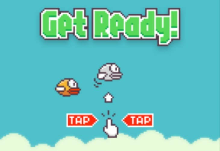 Flappy Bird app on Android