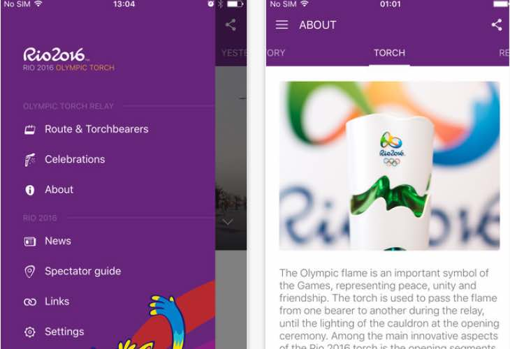 Follow the Rio 2016 torch route