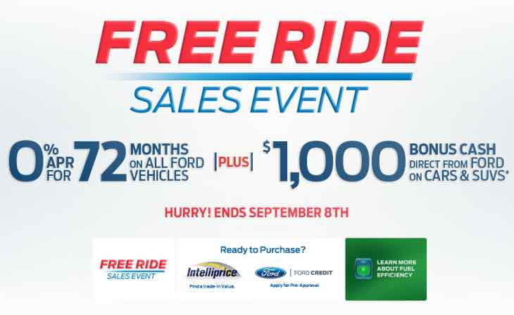 Ford Free Ride sales event
