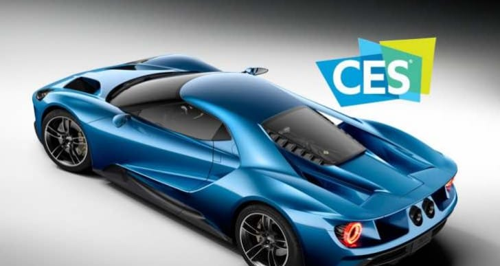 CES Press Day 2016 conference with Ford GT focus